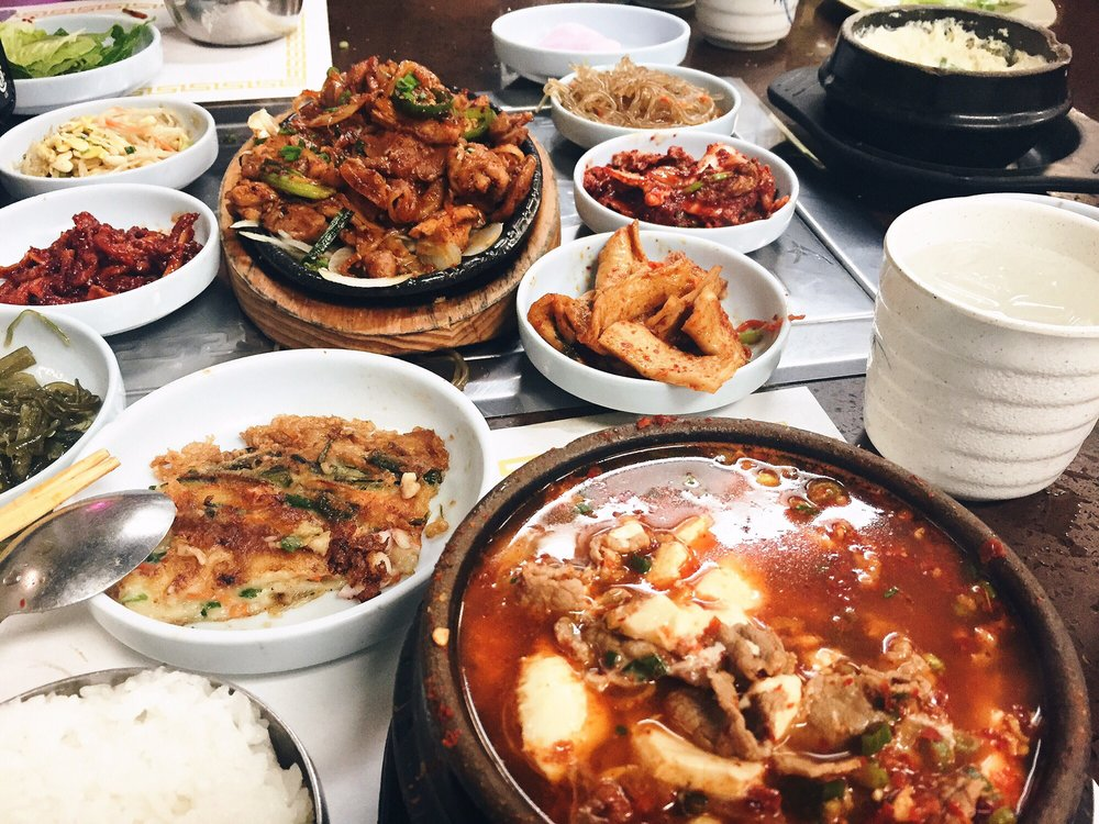 Beef Tofu, Spicy marinated chicken with steam eggs